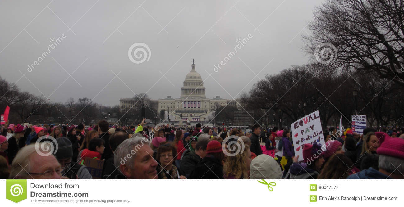 Women`s March, Protest Crowds on the National Mall, Clergy at the March, Washington, DC, USA