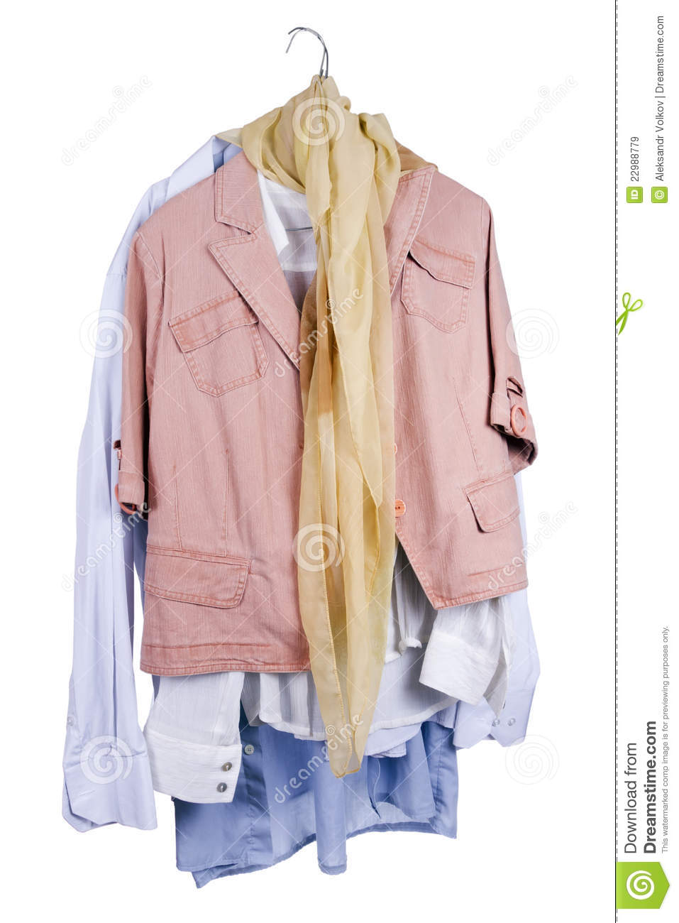 Womenu0026#39;s And Menu0026#39;s Clothes Hanging On A Hanger Stock Image - Image Of Clothing Assortment 22988779