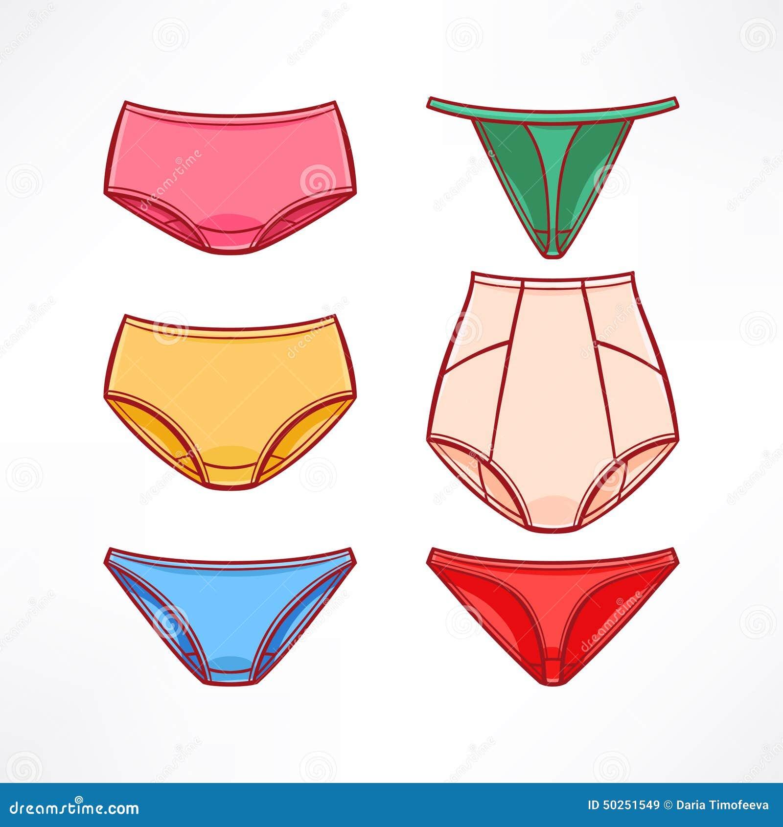 Women's Panties Stock Vector