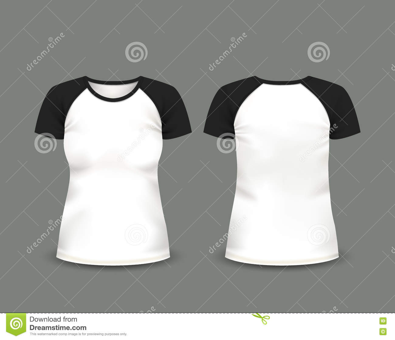 t shirt template with model - t shirt front and back royalty free stock image