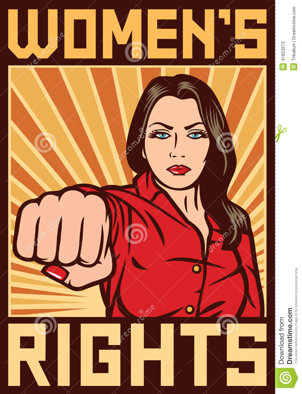 Women S Rights Poster Stock Vector Image 41623273
