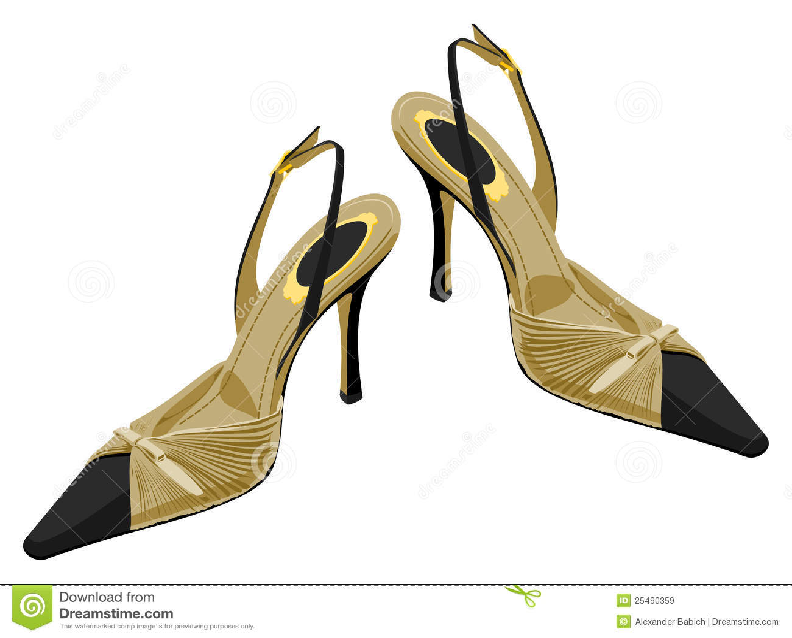 Creative Elegant Sexy Women High Heel Shoe Vector Isolated Illustration