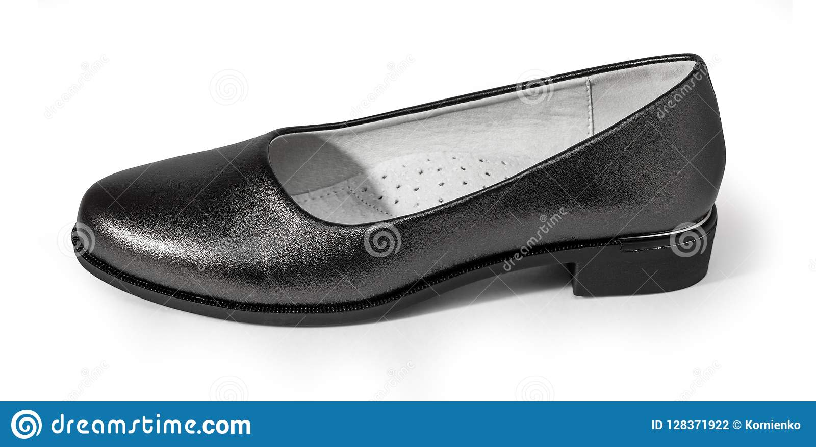 61c20ed86 Women`s shoes isolated stock photo. Image of foot, black - 128371922