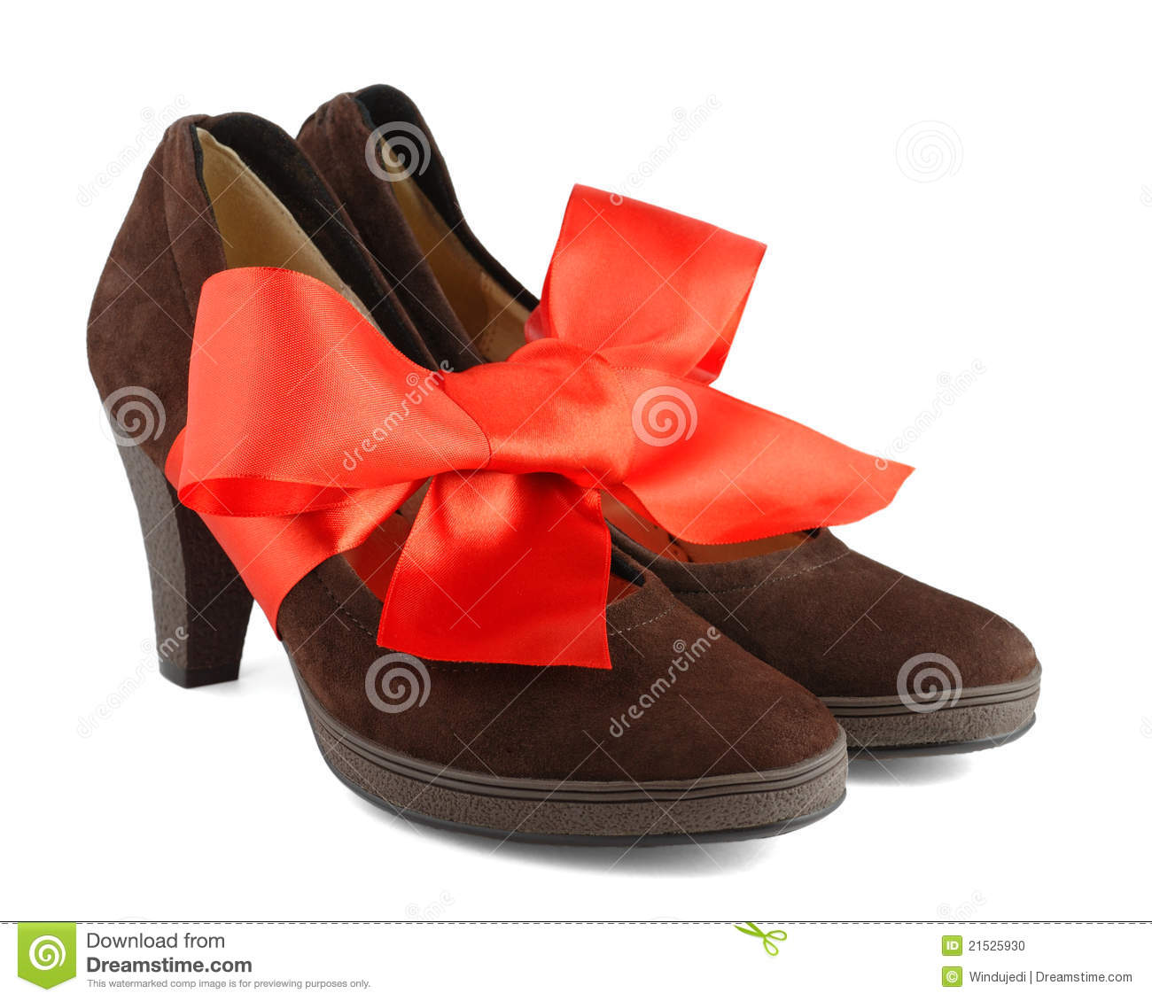 Women s shoes with red gift bow