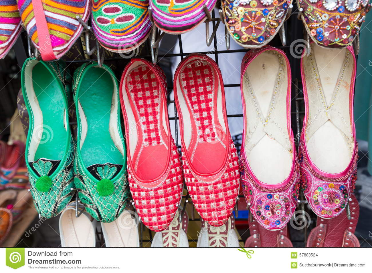 Women's Shoes For Sale. Stock Photo - Image: 57888524