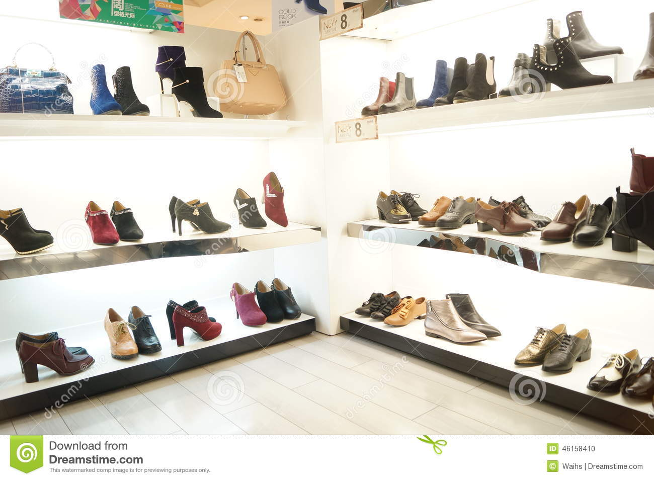 Womens Shoes Are Sold In The Store Display Editorial