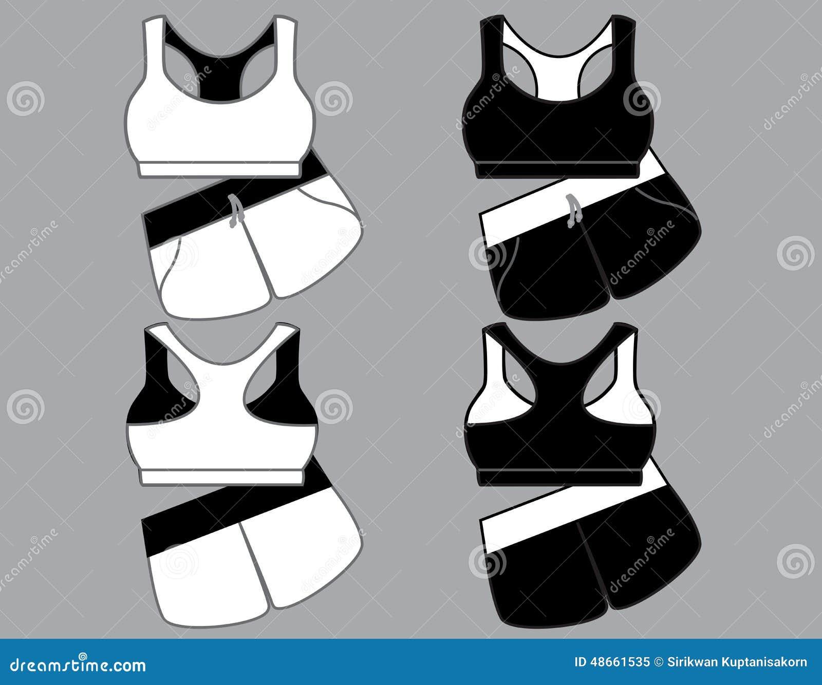 08d600c9bc7a3 Women s Sport Underwear. Bra And Shorts. Stock Illustration ...