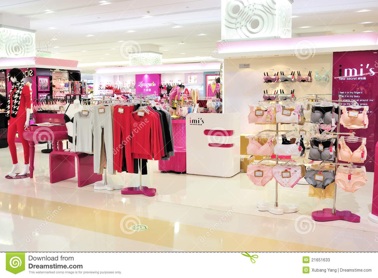 Female Shop Mannequin In Red Underwear Stock Photo - Image: 59823202