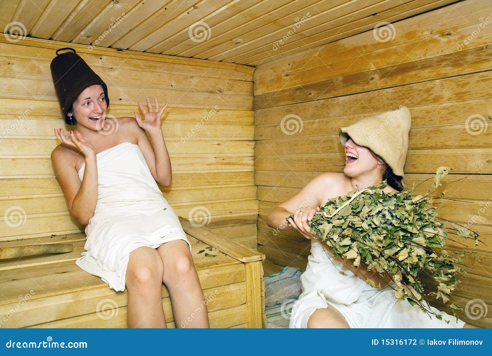В бане зрелые тетки