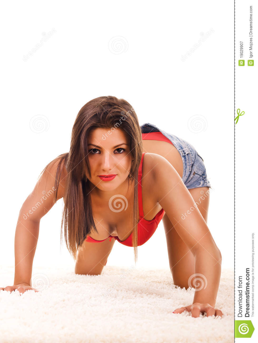 Women In Seductive Position Royalty Free Stock Photography