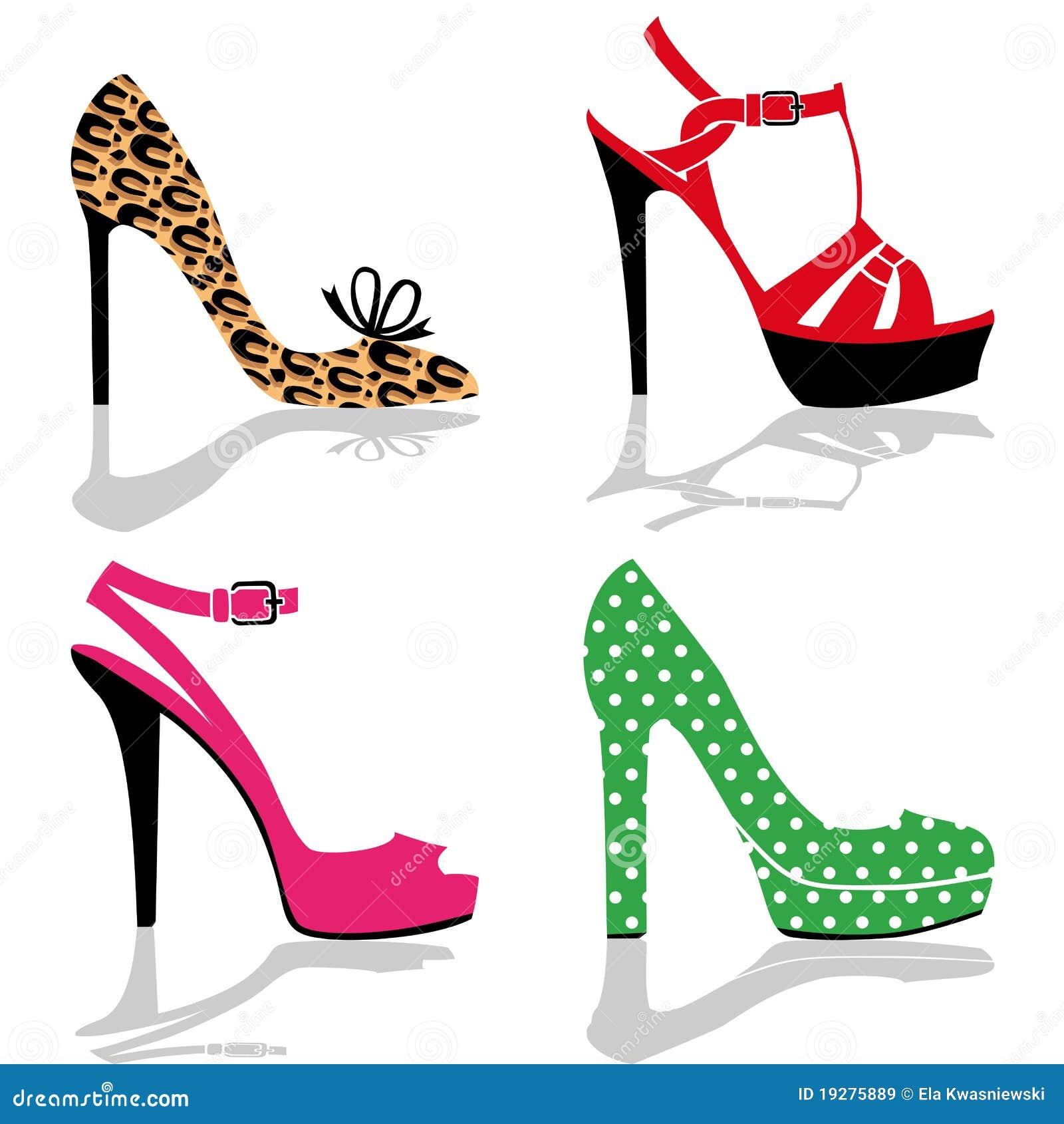 ad5ce911de Women shoe collection stock vector. Illustration of walking - 19275889