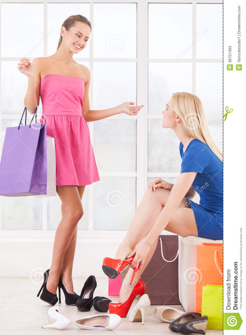 Shopping online clothes and shoes