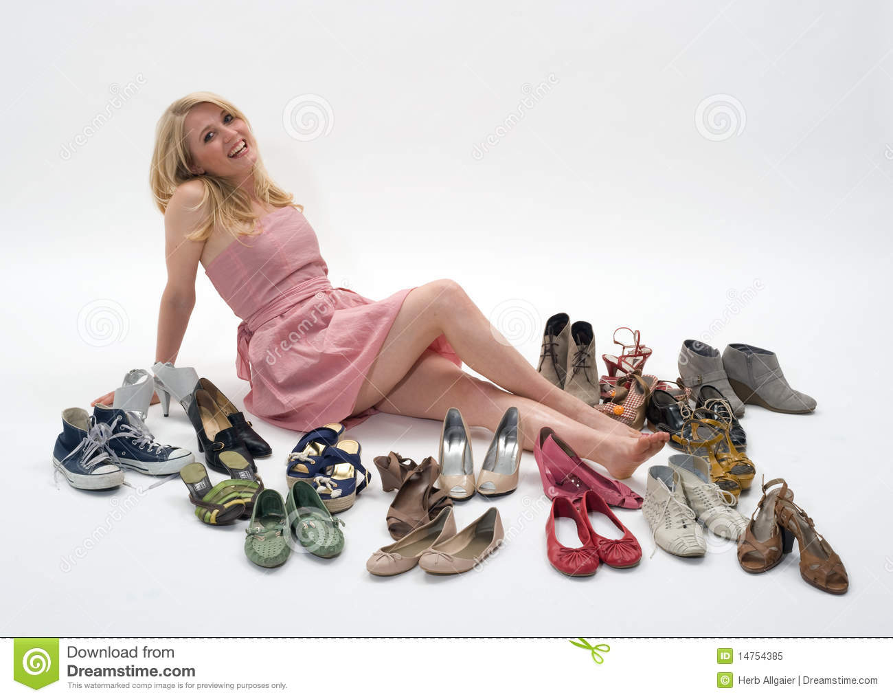 Women And Shoes Royalty Free Stock Photo - Image: 14754385