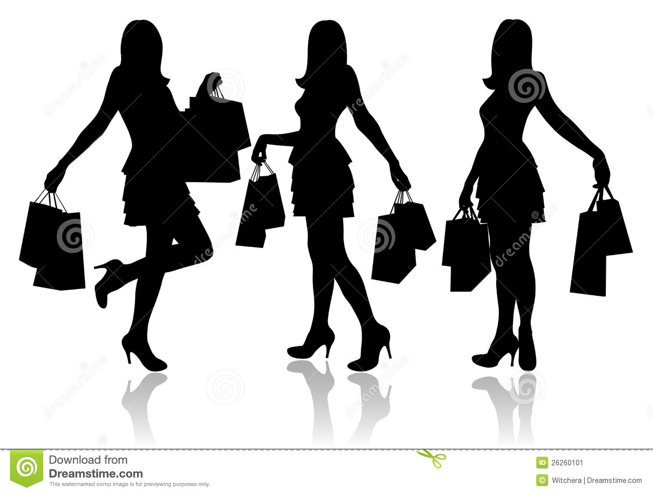 b2aa7722b Women with shopping bags stock illustration. Illustration of beauty ...