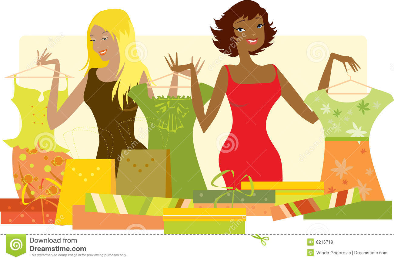 free clipart clothes shopping - photo #36