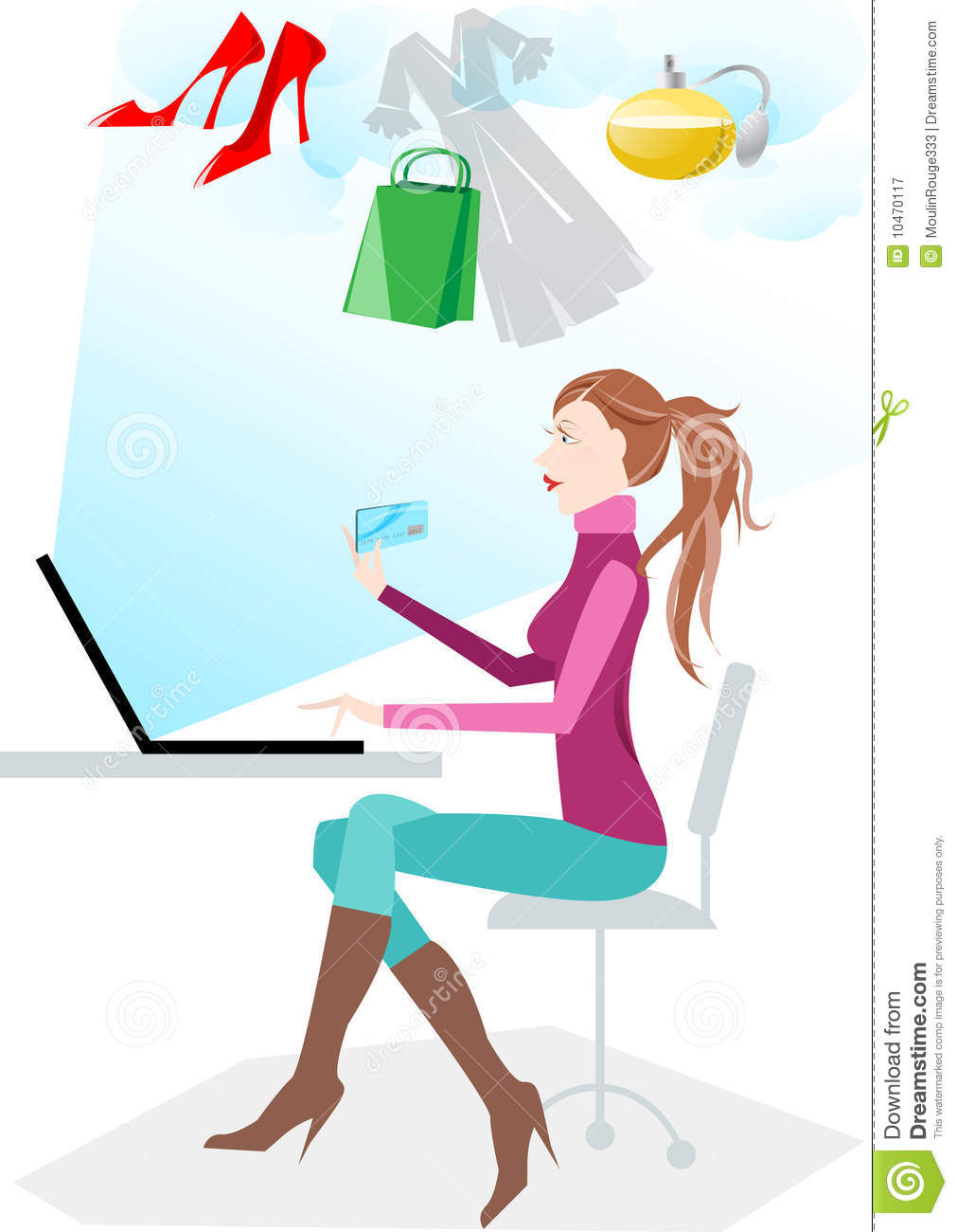 Women Shopping Online Royalty Free Stock Photography ...