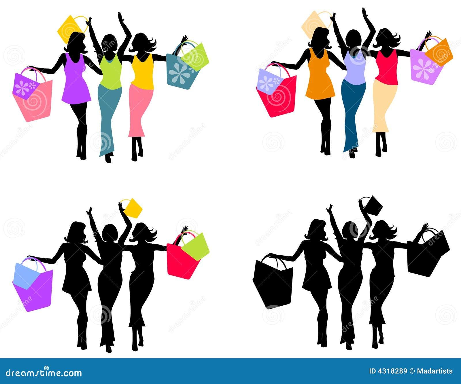 Women Shopping Silhouettes 2