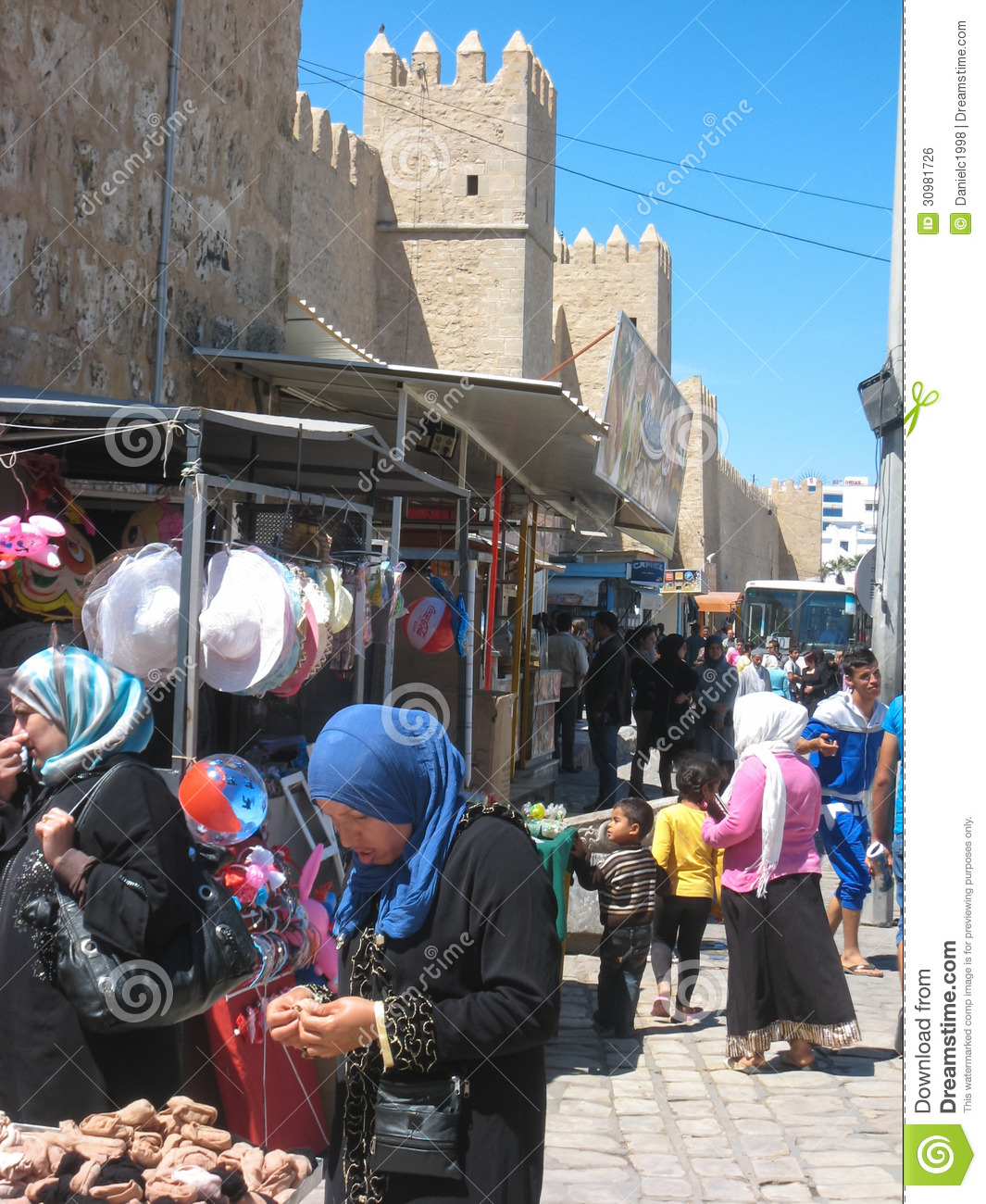 Trade In Marketplace >> Women Shopping At The Souk. Sousse. Tunisia Editorial ...