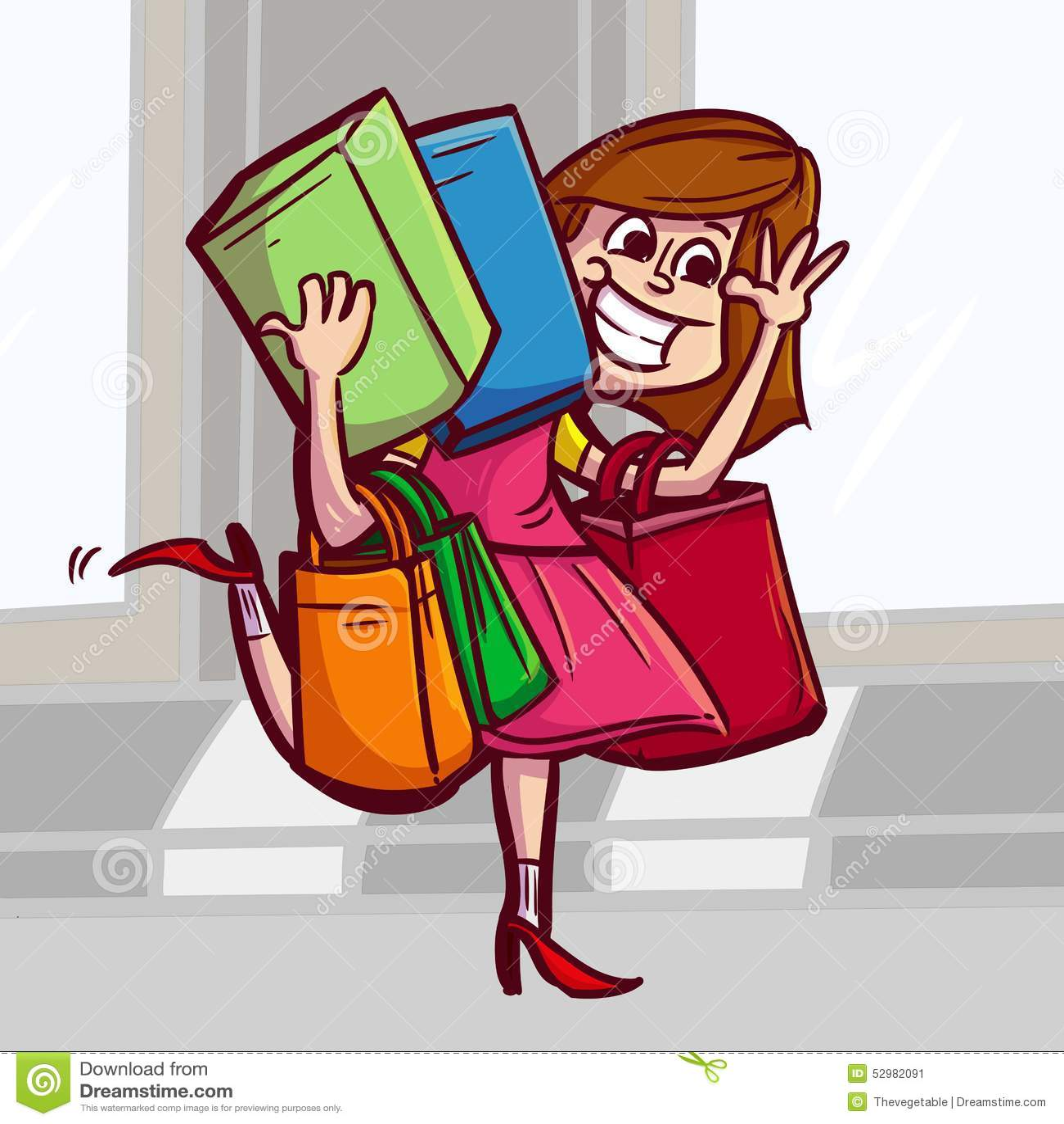 Women shopping to the market