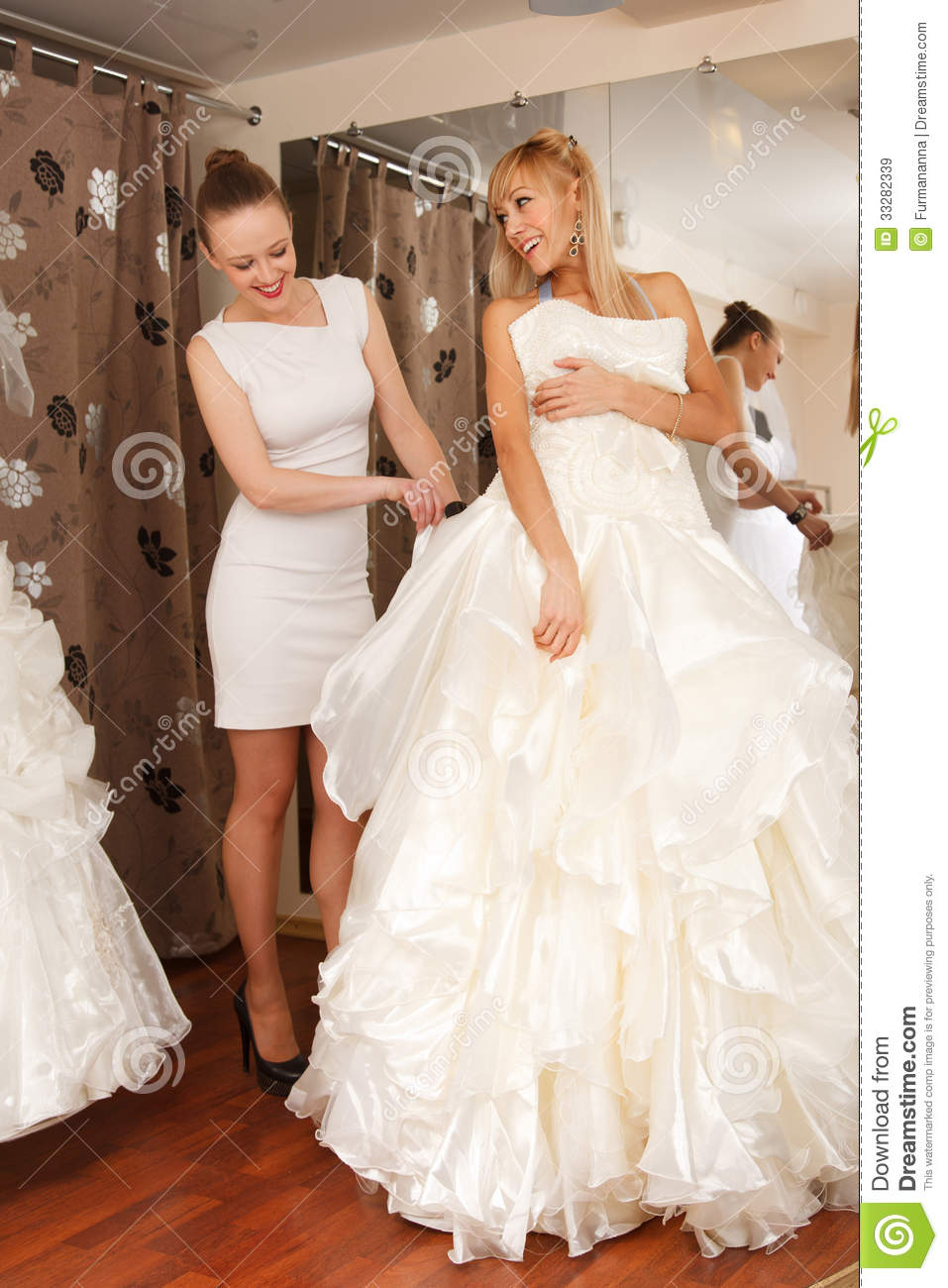 Women shopping for wedding dress royalty free stock images for Wedding dress shops reading