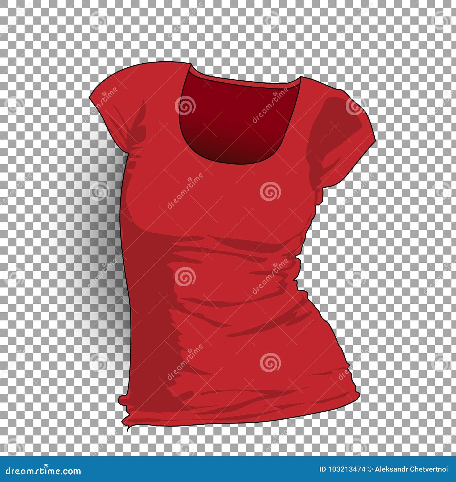 Women Short Sleeve T Shirt Template Vector Realistic Design