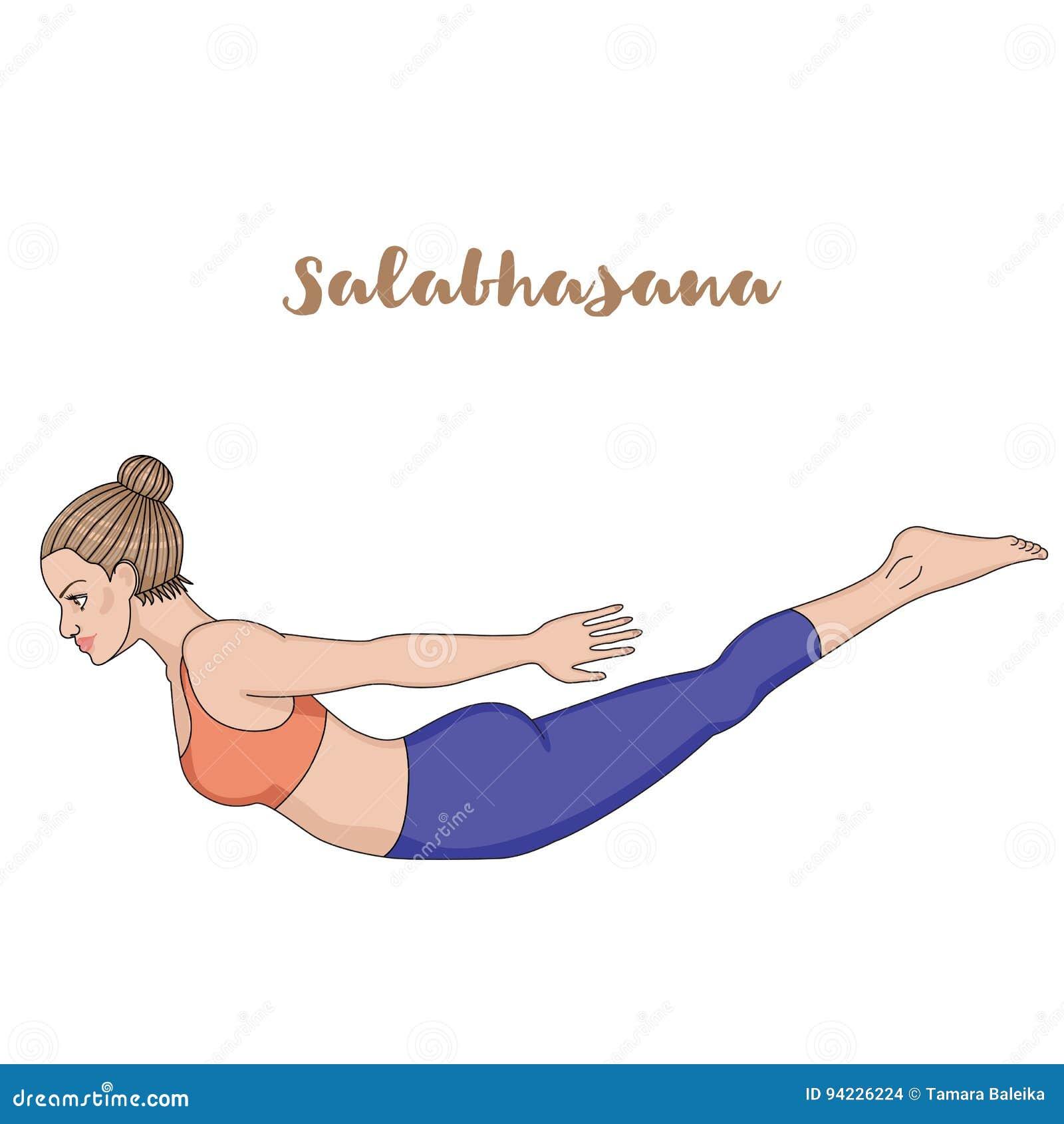 Salabhasana Drawing