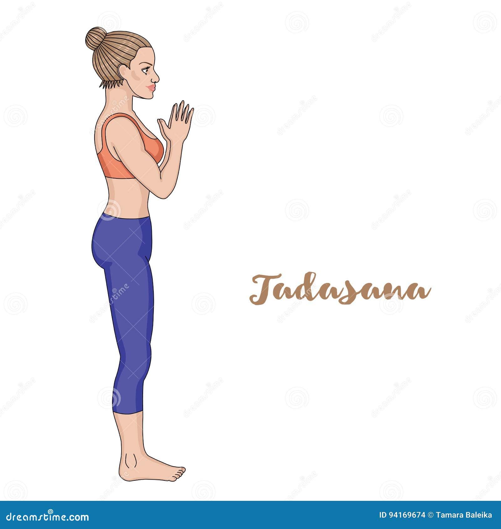 Mountain Pose Cartoon
