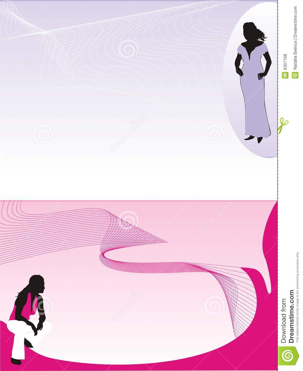 women silhouettes fashion style background for b stock