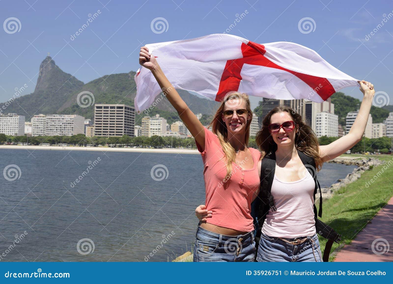 Women Sport Fans Holdi...