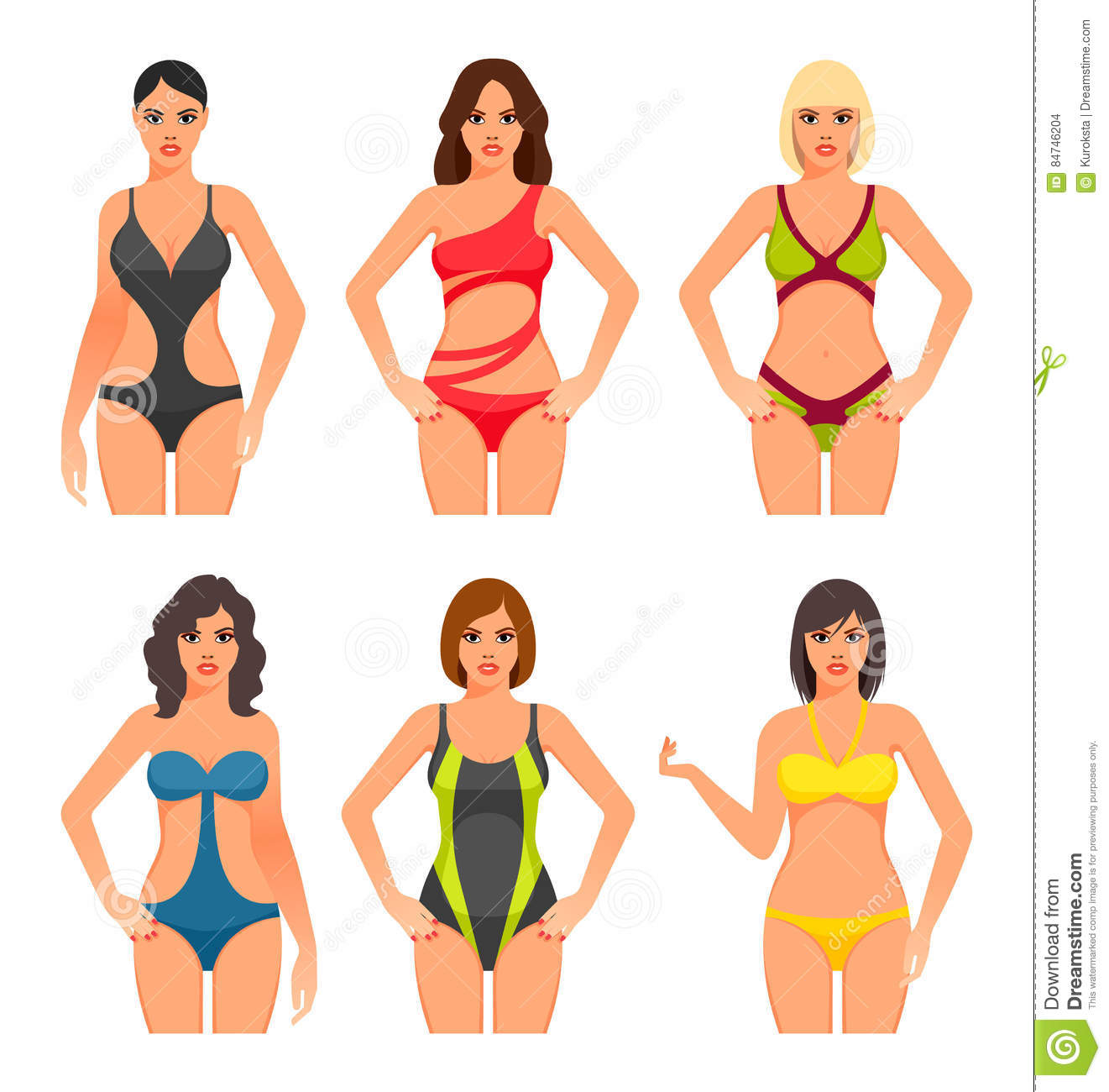 a1a7211d21 Women in swimsuit. stock vector. Illustration of beach - 84746204