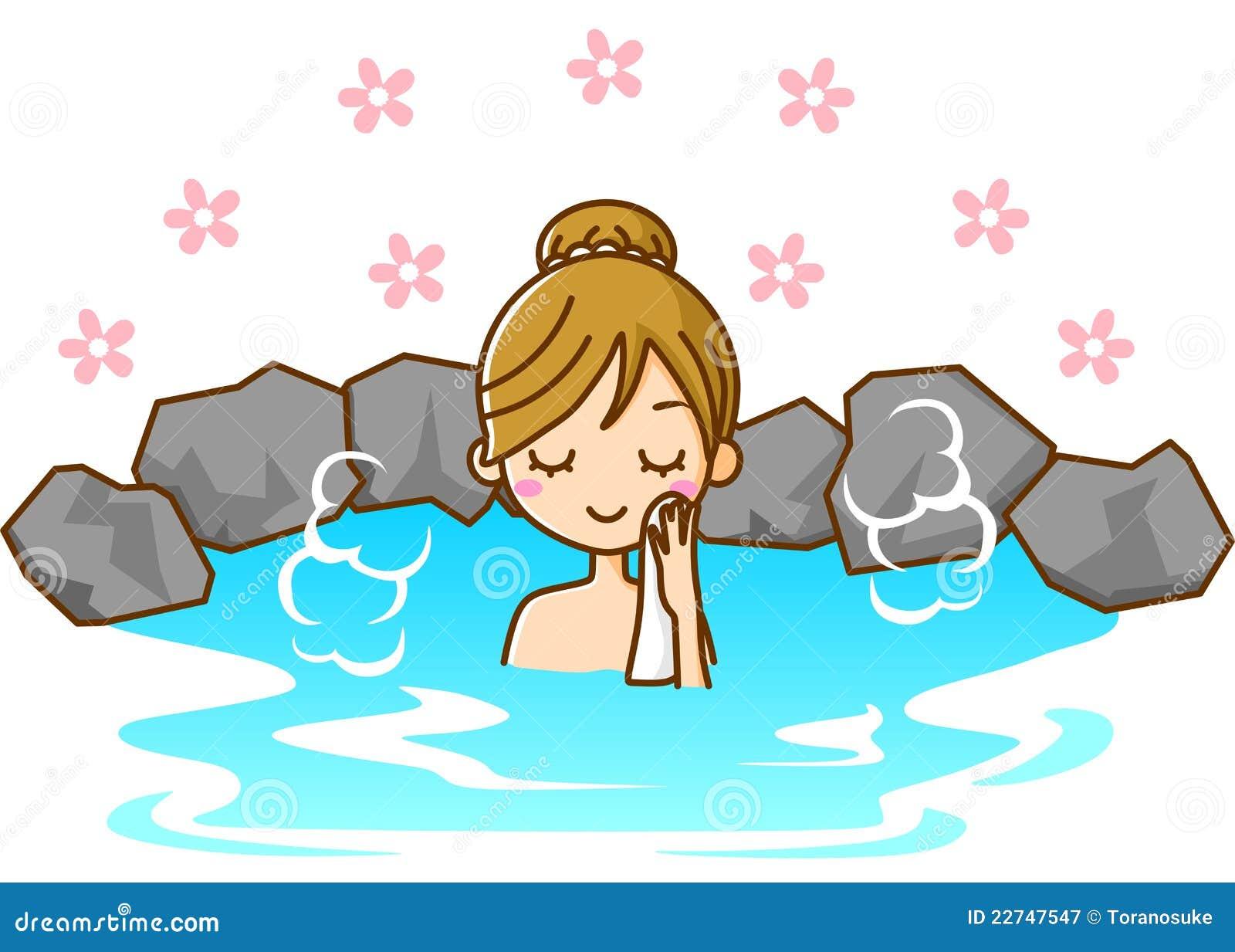 women take a bath stock illustration illustration of travel 22747547. Black Bedroom Furniture Sets. Home Design Ideas