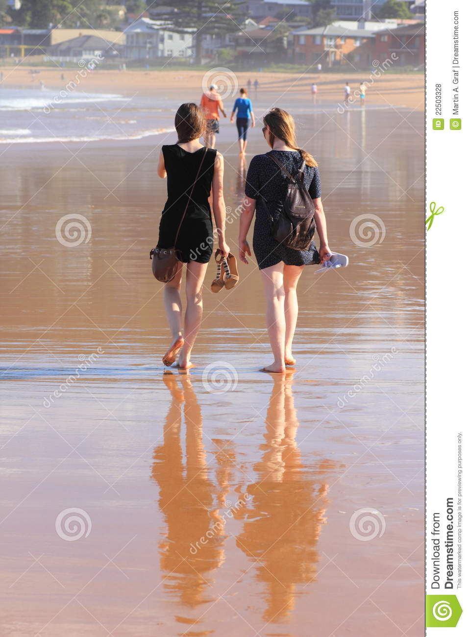 Woman walking on a beach royalty - Royalty Free Stock Photo Download Women Walking Barefoot On Beach