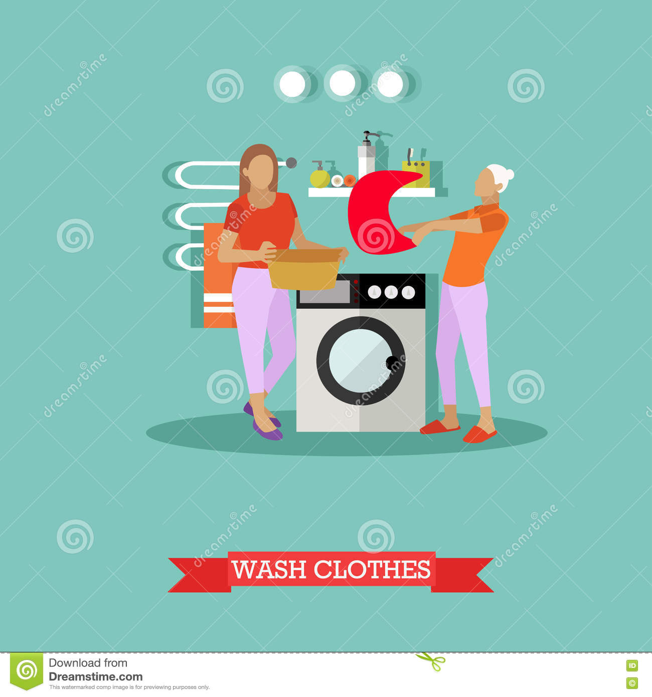 Maid cartoons illustrations vector stock images 3327 pictures to download from - Wrong wash clothesdegrees ...