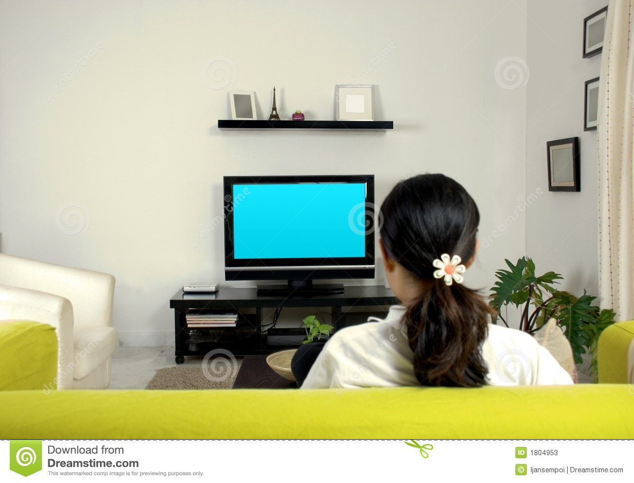 Women Watching Television Stock Photos - Image: 1804953