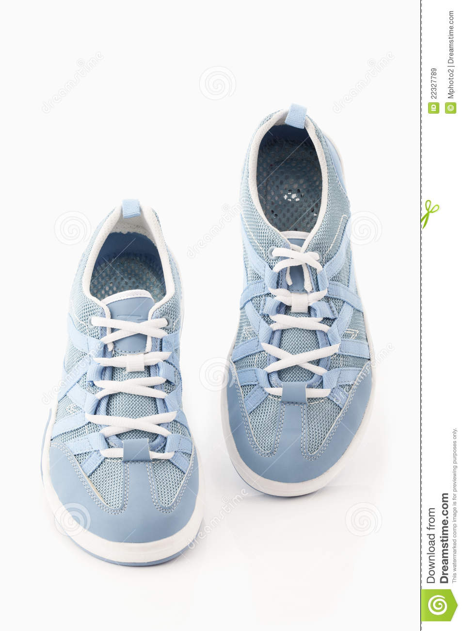 pair of women water shoes on white background