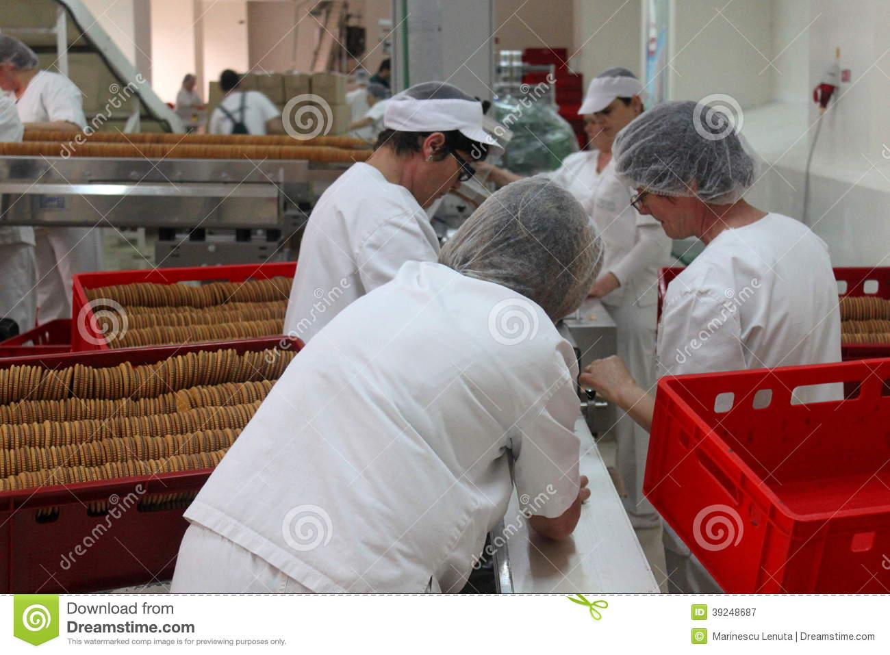 Biscuit factory employees