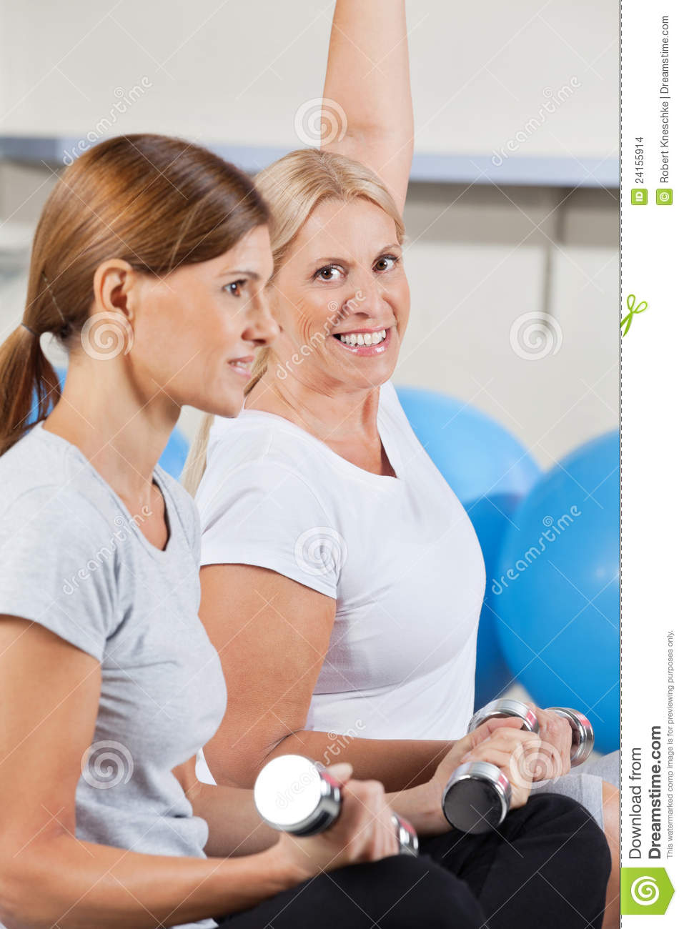 Women Working Out In Gym Stock Images - Image: 24155914