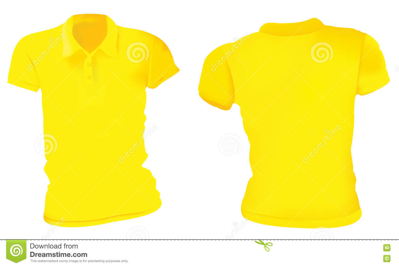 Women Yellow Polo Shirts Template Stock Vector Illustration Of