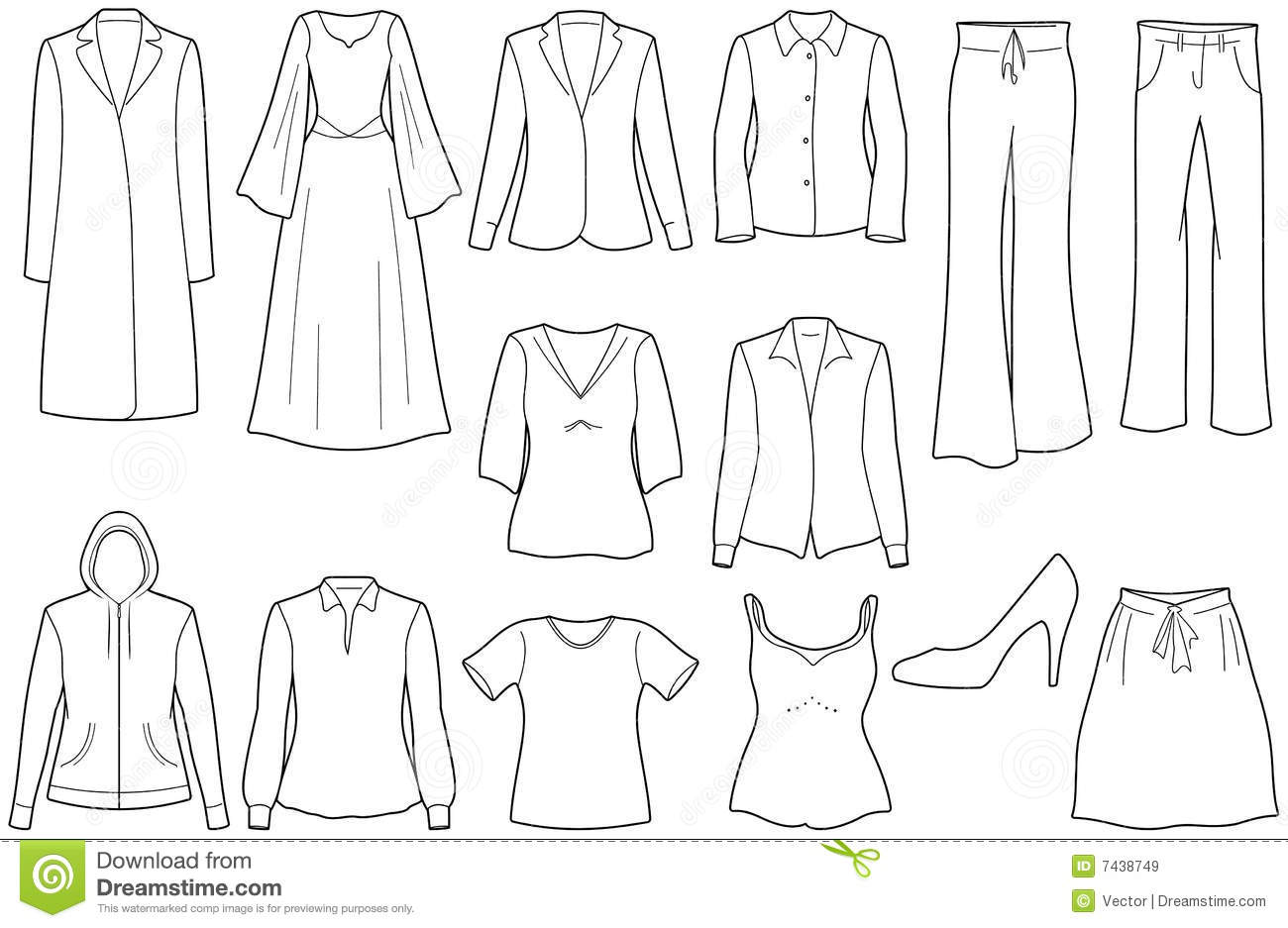 Women's Casual Clothes Royalty Free Stock Images - Image ...