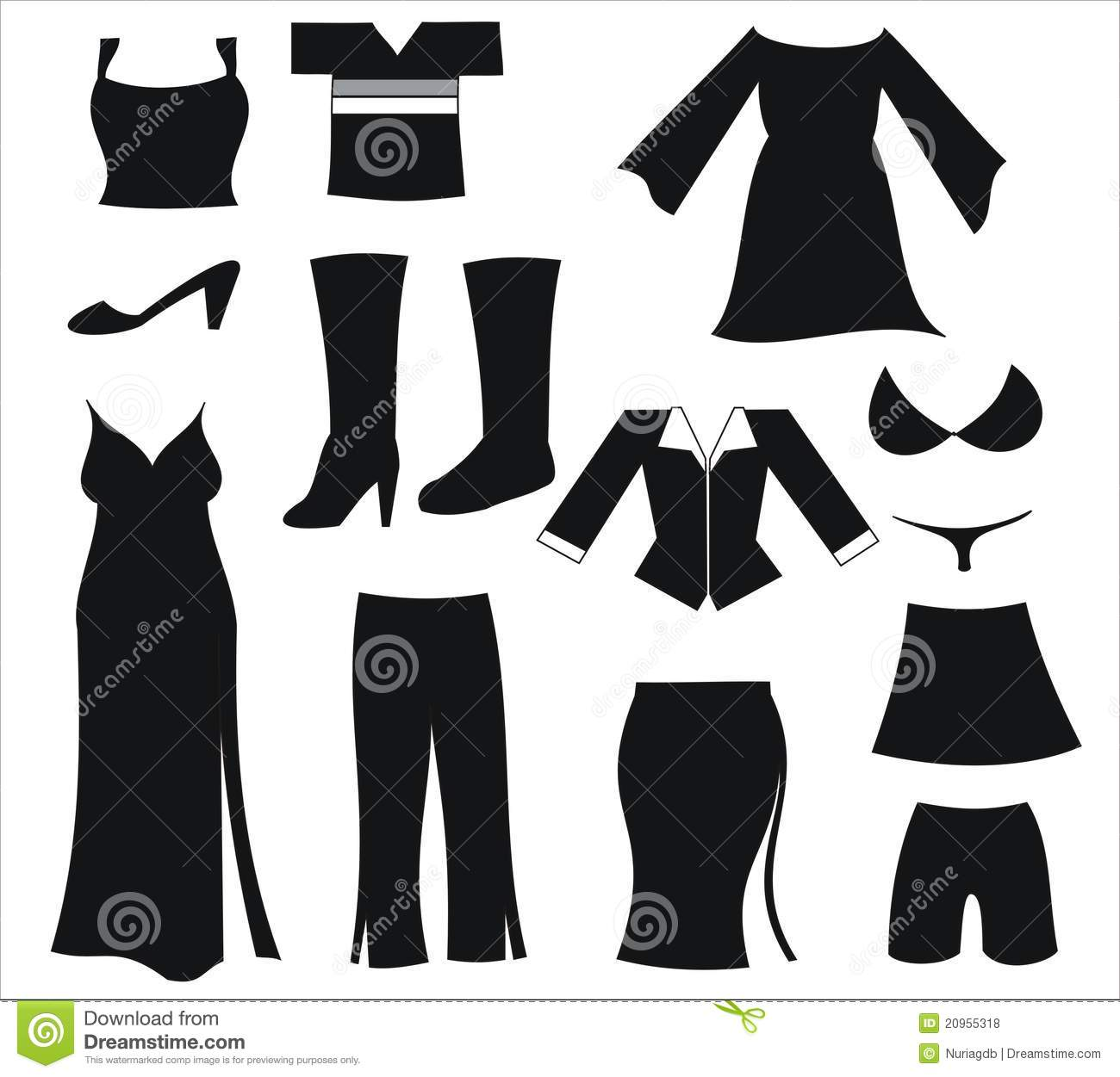clipart women's clothing - photo #17