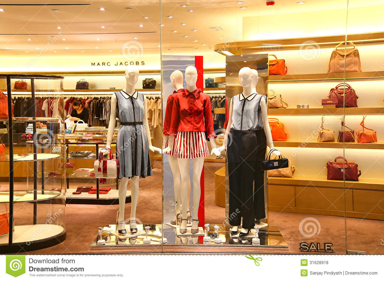 22eaff56193c7 Contemporary women's clothing on display at the retail outlet of marc  jacobs in hong kong