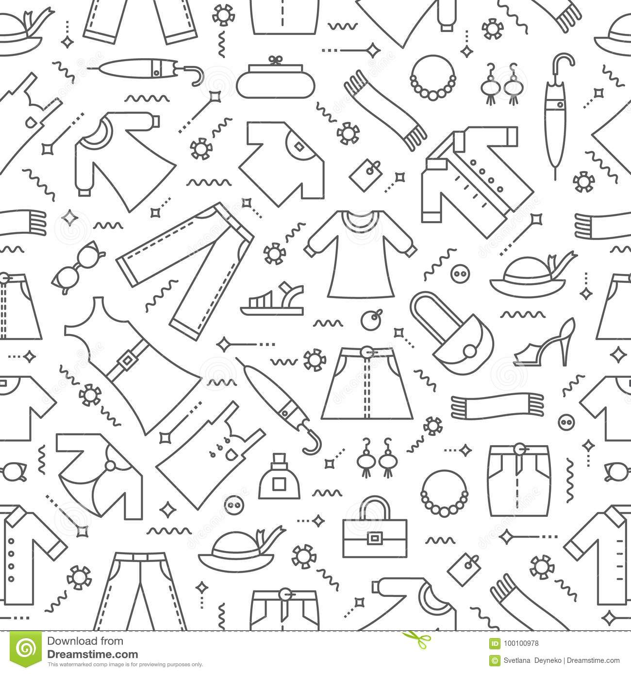 Womens Clothing Pattern 1 Stock Vector Illustration Of Cloth 100100978