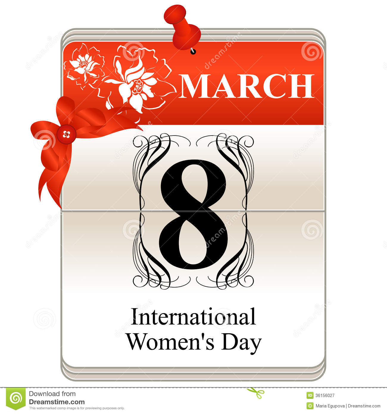 womens day calendar royalty free stock photography image 36156027