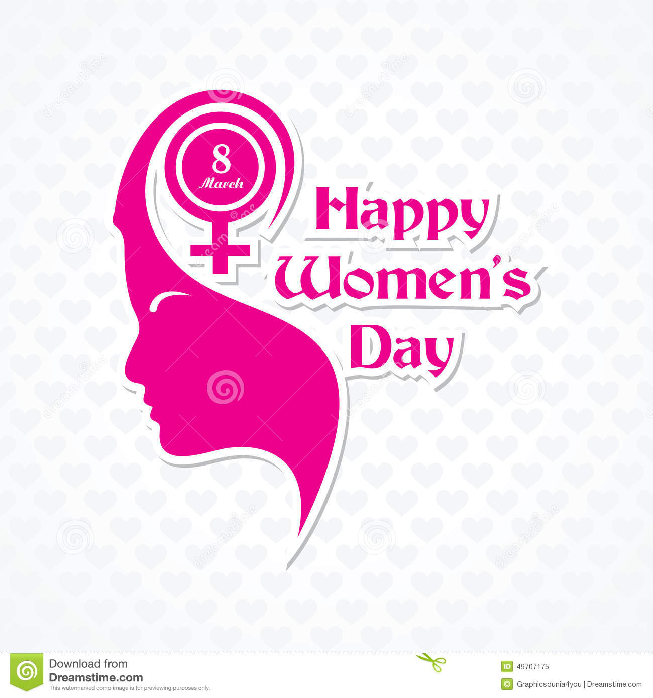 womens day greeting card design stock vector