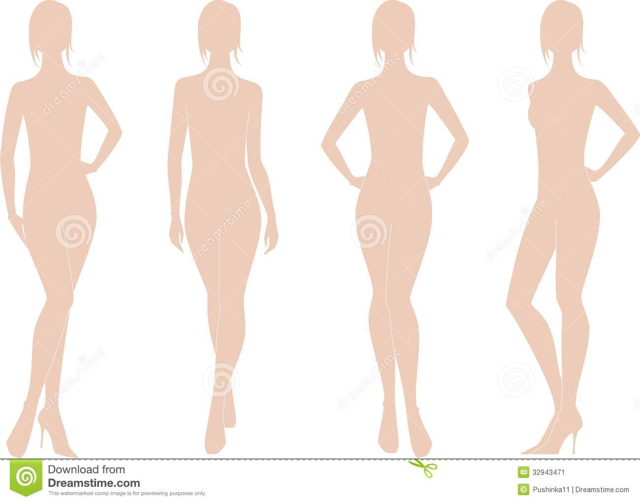 Womens figure stock vector. Illustration of fashion ...