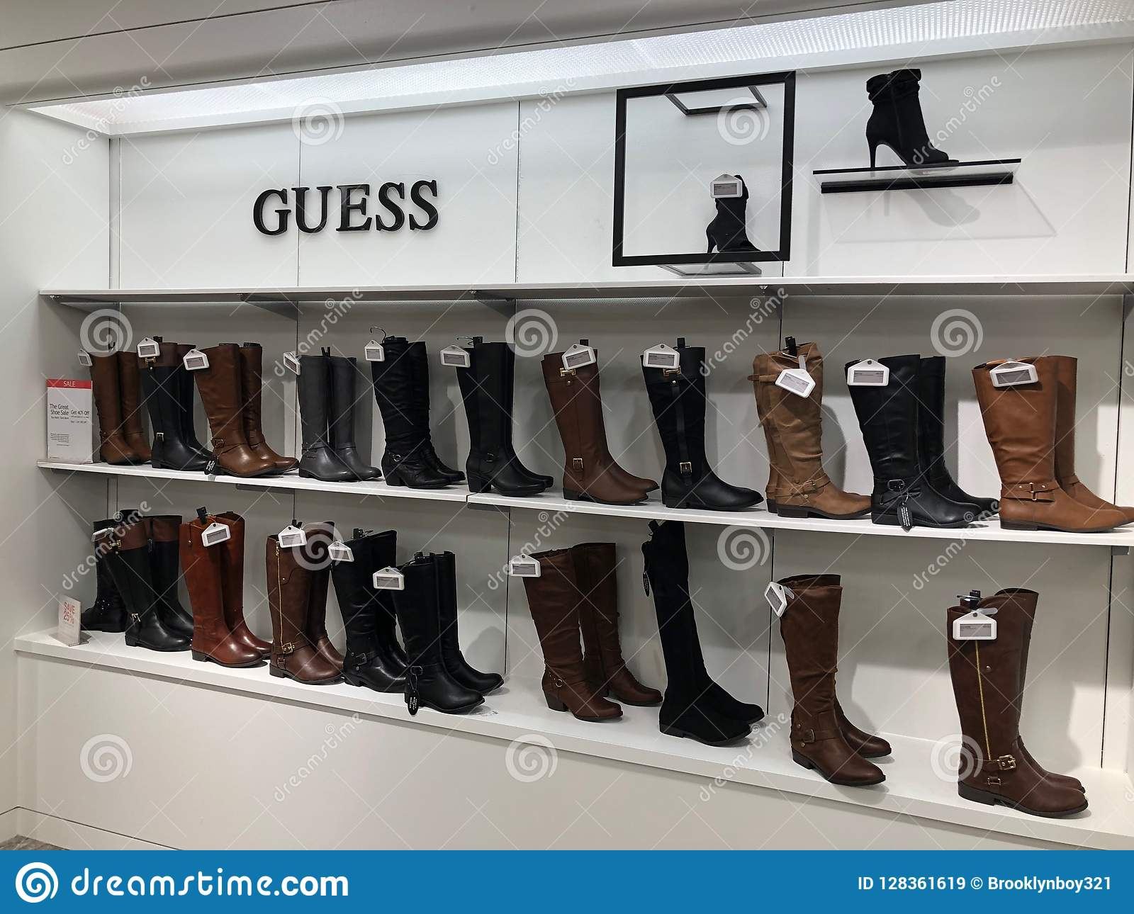 Womens Shoes In A Department Store