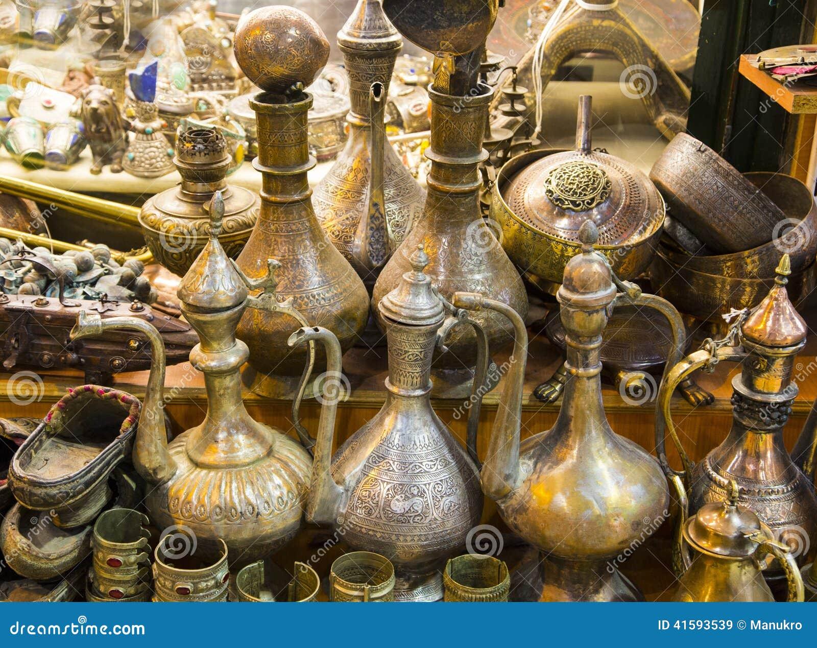 Wonder golden lamp in the grand bazaar