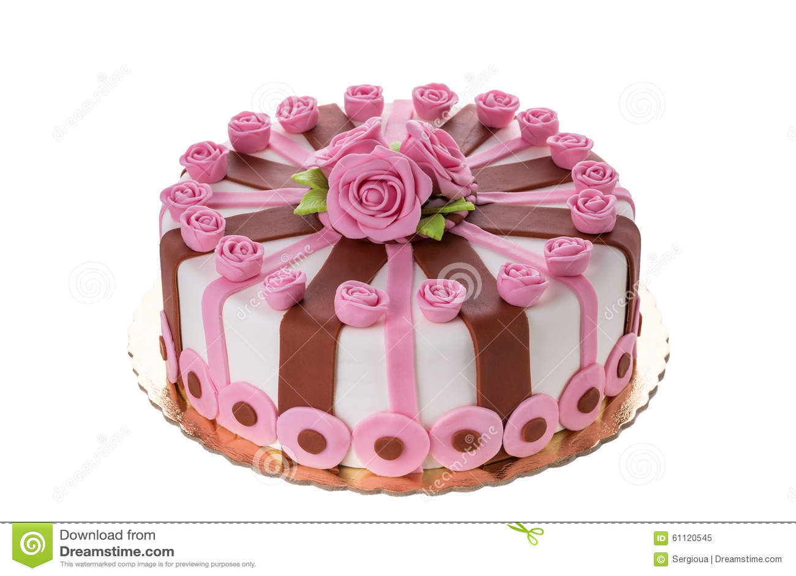 Wonderful Decorative Cake Flowers Roses