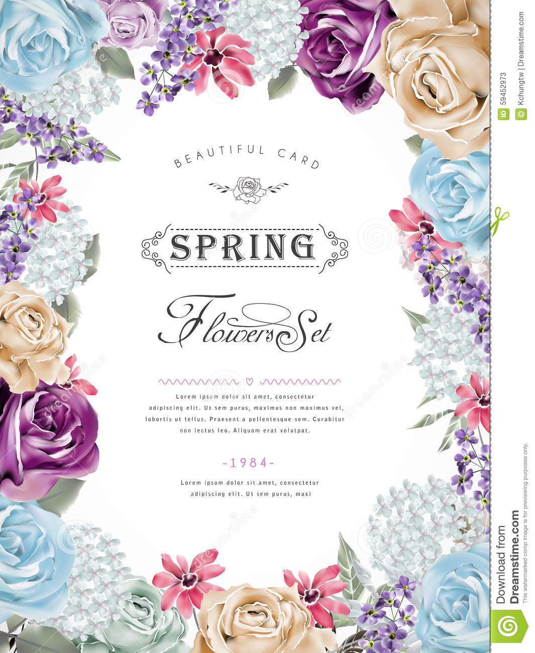 Spring Invitation Template with best invitation template