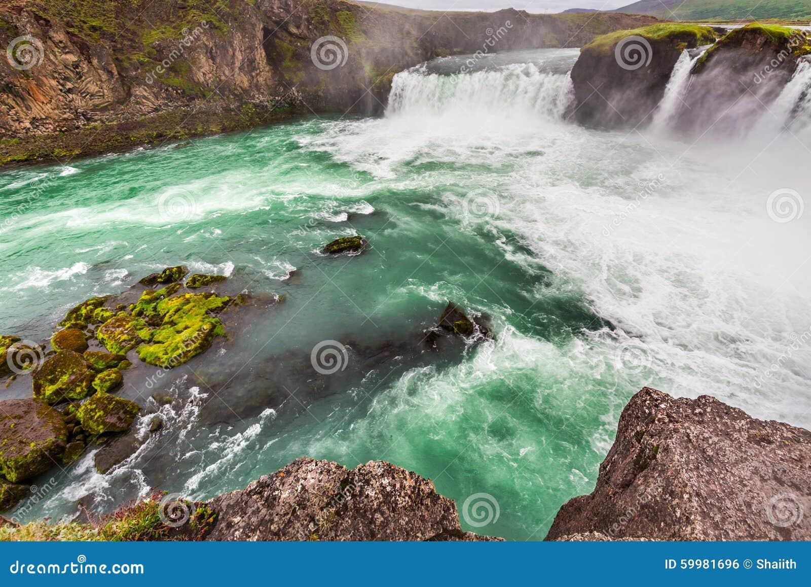 Wonderful Godafoss waterfall, Iceland